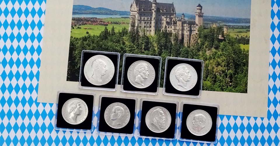 7 Monarchen 7 Münzen Wir Gucken Zurück Auf Das Königreich Bayern