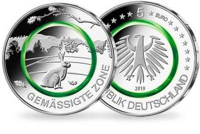 """5-Euro-Gedenkmünze """"Gemäßigte Zone"""""""
