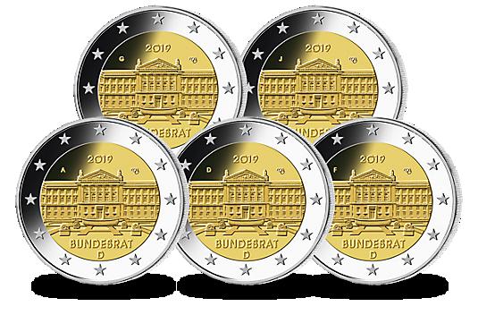 """2-Euro-Gedenkmünze """"Bundesrat"""" 2019"""