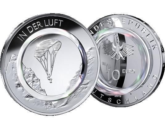"""10-Euro-Gedenkmünze """"In der Luft"""""""