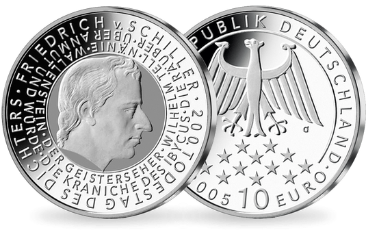 10 EURO Gedenkmünze 200. Todestag Friedrich von Schiller