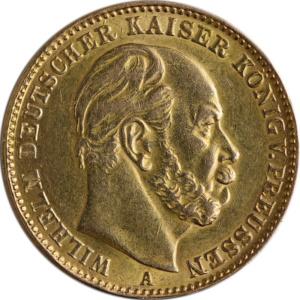 Historische 20-Mark-Goldmünzen aus dem Kaiserreich als Alternative für Anleger: Wilhelm I. | MDM-Münzenblog