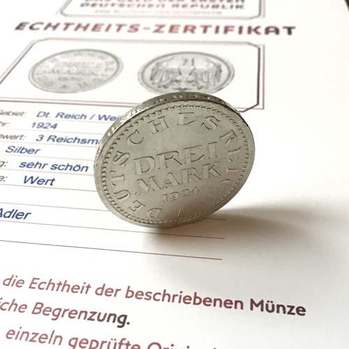 Drei Reichsmark Weimarer Republik | MDM-Münzenblog