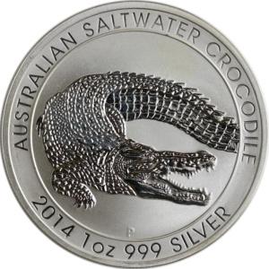 """Silberunze """"Salzwasserkrokodil"""", 2014"""