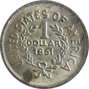 1 US-Dollar, 1851