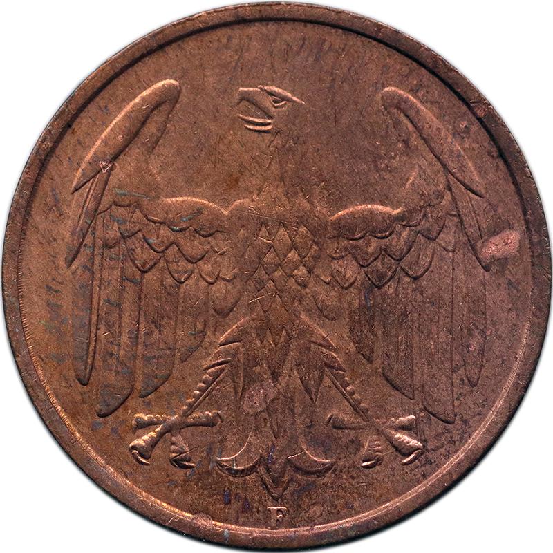 Vier-Pfennig-Münze als Symbol für die Krise 1932 | MDM-Münzenblog