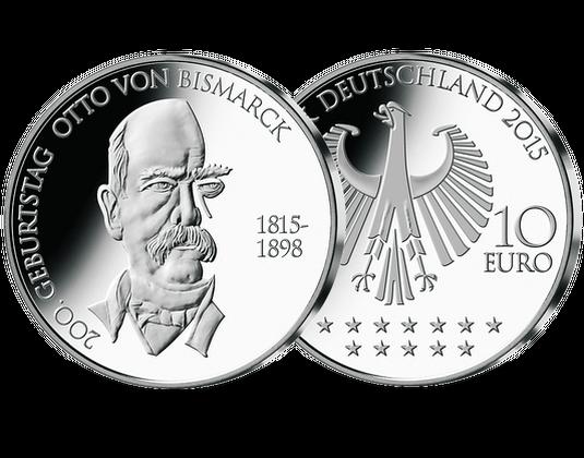 """10-Euro-Gedenkmünze """"200. Geburtstag Otto von Bismarck"""""""