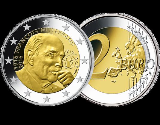 2-Euro-Münzen Frankreich Mitterrand 2016