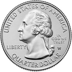 """Seltener Quarter-Dollar 2019 mit Münzzeichen """"W"""""""