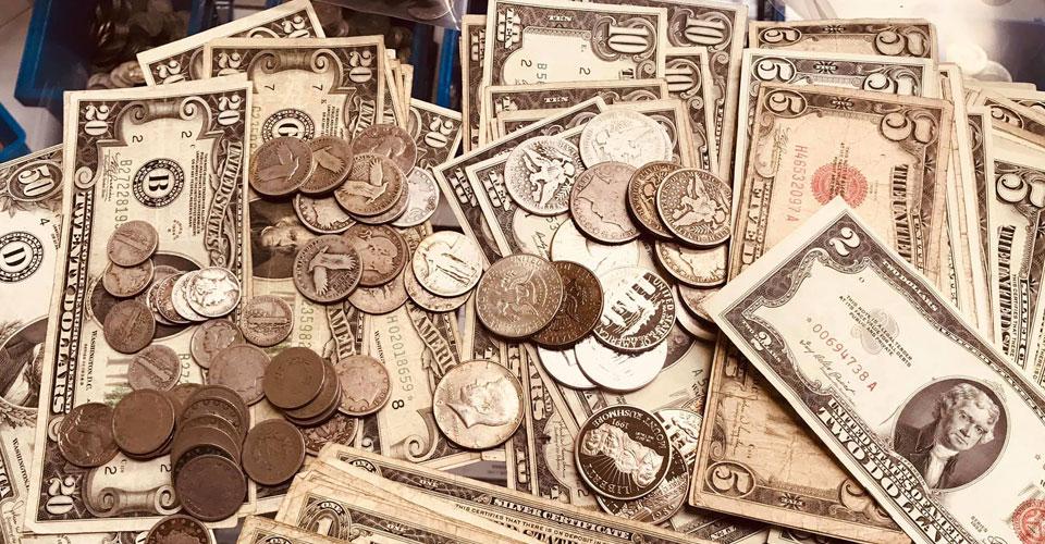 US-Münzen und Banknoten für die Great American Coin Hunt 2019