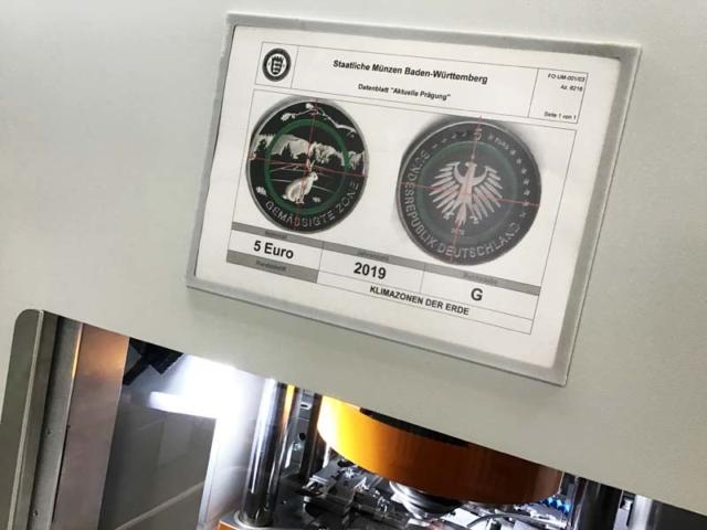 """Anprägung 5-Euro-Münze """"Gemäßigte Zone"""" mit Polymerring"""