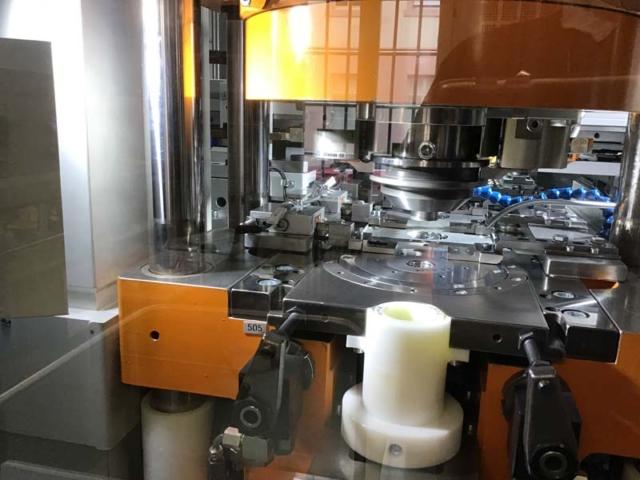 Gräbener-Prägemaschine in der Münze Karlsruhe