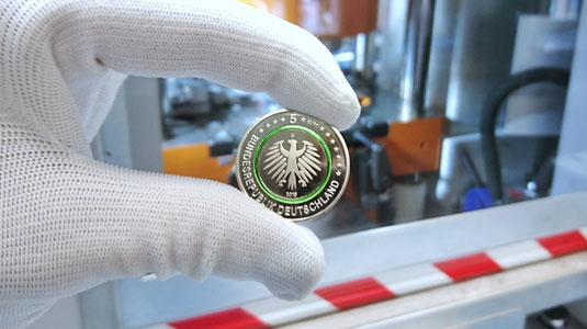 """5-Euro-Sammlermünze """"Gemäßigte Zone"""" 2019 - Wertseite"""