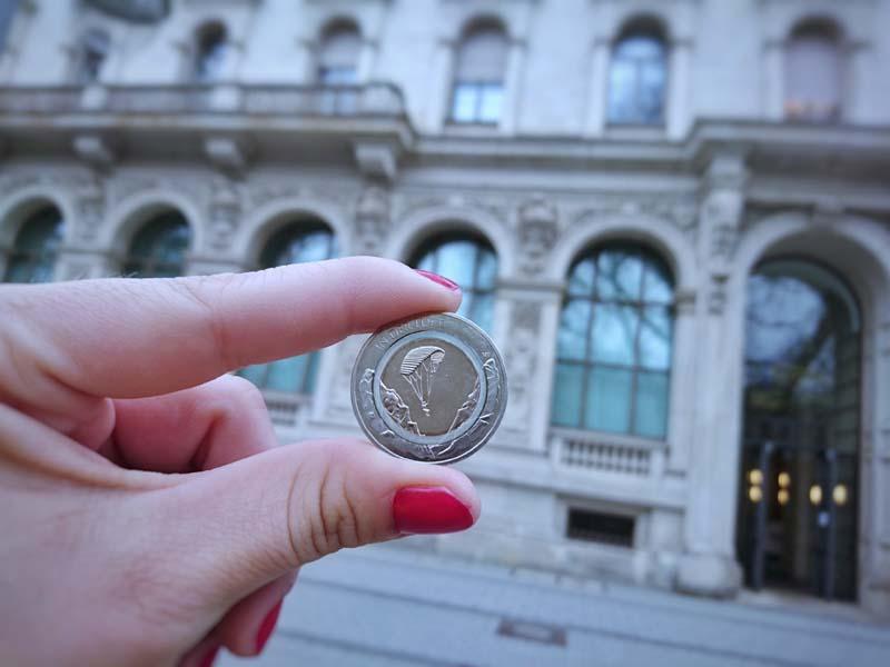 Ausgabetag 10-Euro-Münze 2019 mit Polymer-Ring Bundesbank Hannover