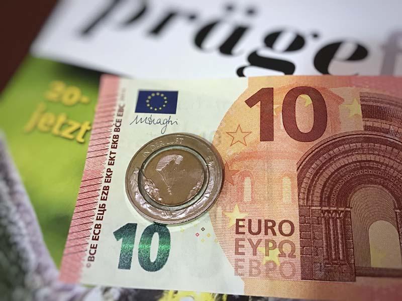 10-Euro-Münze 2019 mit Polymer-Ring 10-Euro-Schein