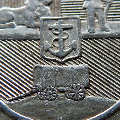 Fünf Schilling 1892 Südafrika Single Shaft (Wertseite) | MDM-Blog