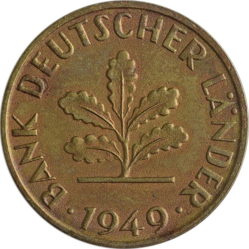 Münzensammeln: Proben und Verprägungen (1 Pfennig 1949)   MDM-Münzenblog