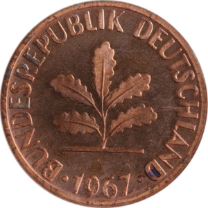 Münzensammeln: Proben und Verprägungen (2 Pfennig 1967) | MDM-Münzenblog