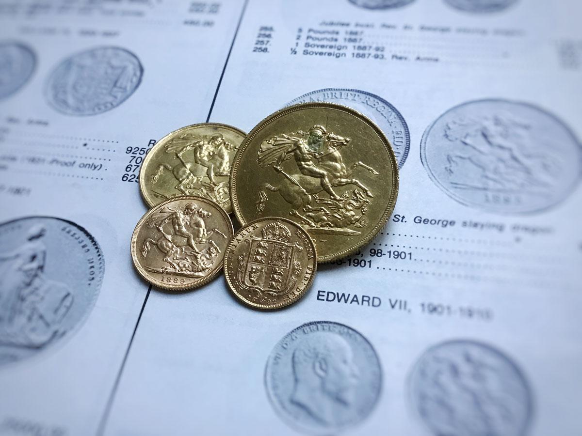 Königin Victorias Sovereign-Goldmünzen mit Jubilee Head (Rückseiten) | MDM-Blog