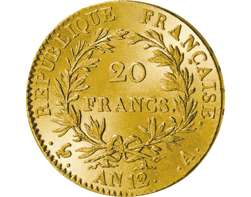 Napoleon 20-Francs-Goldmünze AN 12