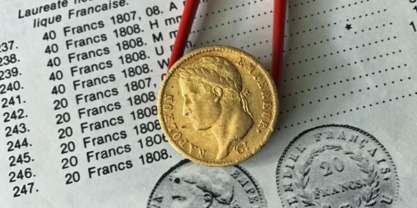 20-Francs-Goldmünzen Napoleon Typ 5
