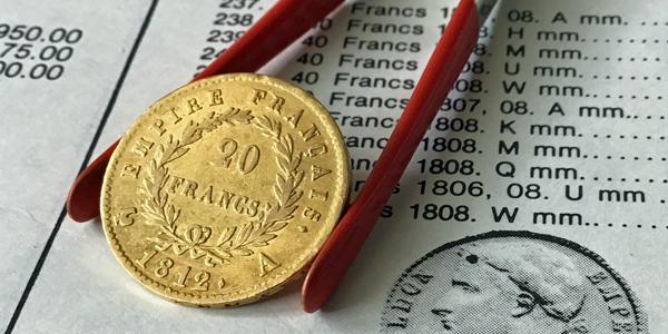 20-Francs-Goldmünzen Napoleon Typ 5, Wertseite