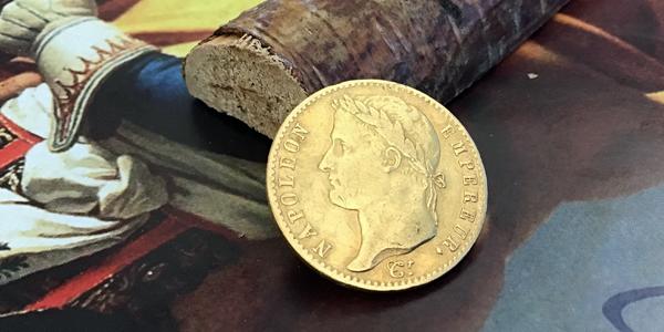 Napoleons letzte 20-Francs-Goldmünze (Typ 6), Bildseite