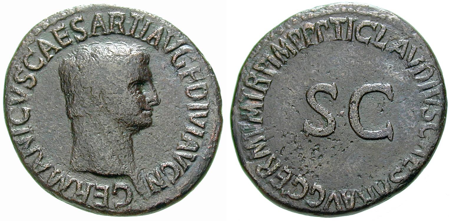 Germanicus-Münzen aus dem antiken Rom | As | MDM-Blog