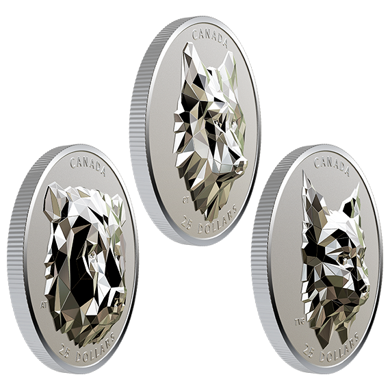 Multifaceted Animal Head Royal Canadian Mint