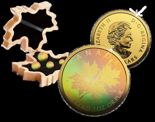 Gold Maple Leaf 2020 Hologram