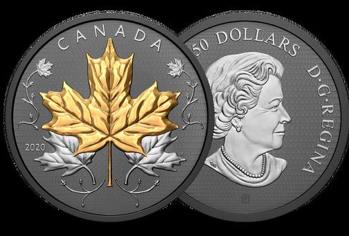 Münzneuheiten aus aller Welt, Silver Maple Leaf Rhodium | MDM-Blog